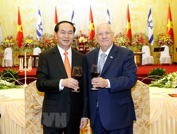 Phat bieu cua Chu tich nuoc tai tiec chieu dai Tong thong Israel hinh anh 1