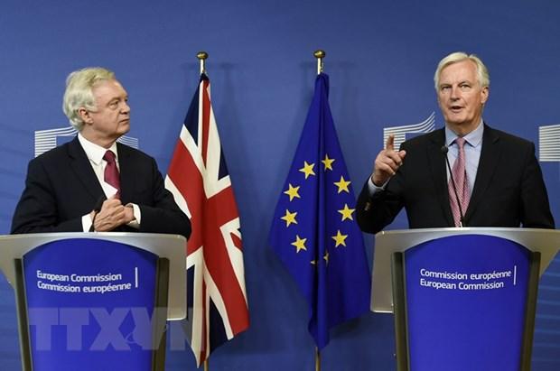 EU va Anh thong nhat cac uu tien va lich trinh dam phan Brexit hinh anh 1