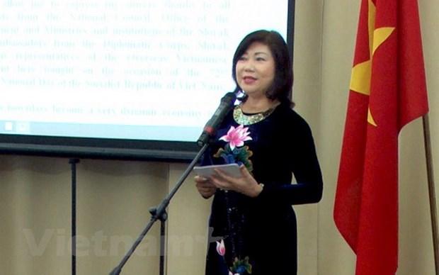 Trang trong Le Ky niem 72 nam Quoc khanh Viet Nam tai Slovakia hinh anh 1