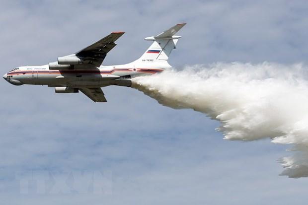 Litva cao buoc may bay tiem kich Il-76 cua Nga xam pham khong phan hinh anh 1