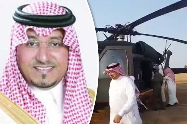 Hoang tu Saudi Arabia tu nan trong vu roi may bay truc thang hinh anh 1