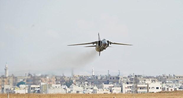 May bay cua khong quan Syria bi khung bo ban ha bang ten lua hinh anh 1