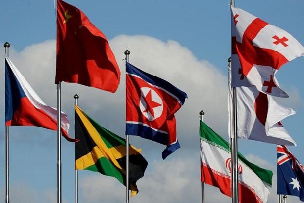 VDV Trieu Tien toi Han Quoc tham du Olympic PyeongChang 2018 hinh anh 1