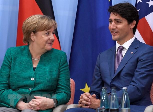 Lanh dao Canada thao luan cac van de hop tac voi EU, Nhat Ban, Duc hinh anh 2