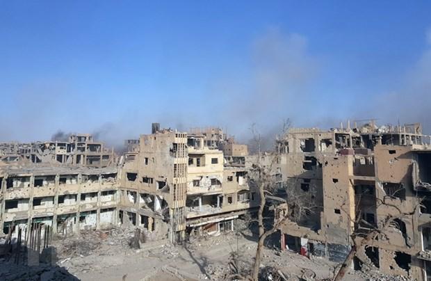 Quan doi Syria gianh lai khu vuc rong lon gan bien gioi Iraq tu tay IS hinh anh 1