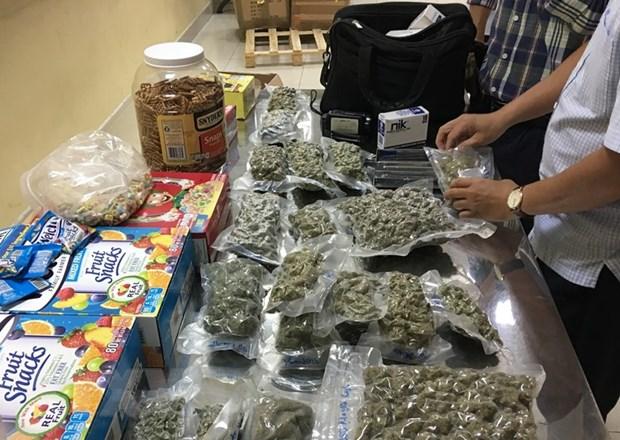 Phat hien 4kg can sa giau tinh vi trong lo hang gui tu My ve Viet Nam hinh anh 1