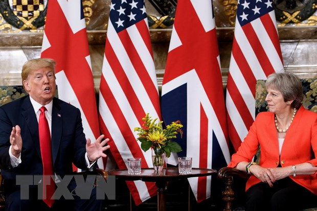 Ong Trump nhat tri voi chien luoc Brexit cua Thu tuong Anh hinh anh 1