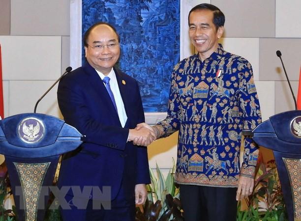 Thu tuong Nguyen Xuan Phuc hoi dam voi Tong thong Indonesia Widodo hinh anh 1