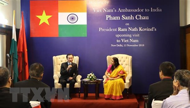DSQ Viet Nam hop bao truoc them chuyen tham cua Tong thong An Do hinh anh 2