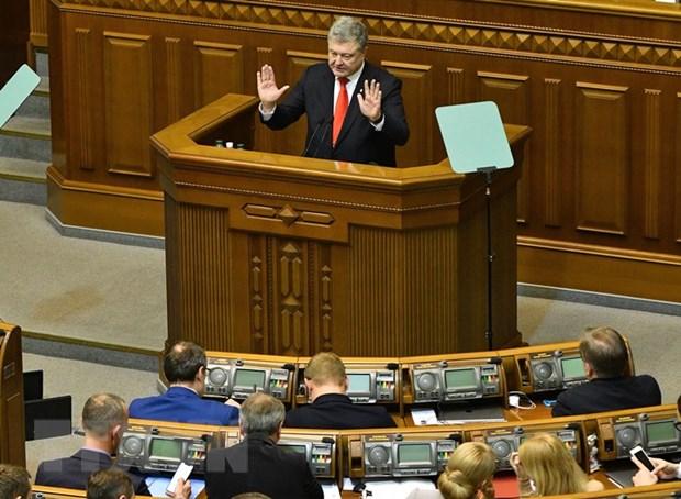 Cang thang Nga-Ukraine: Kiev ban bo tinh trang chien tranh hinh anh 1