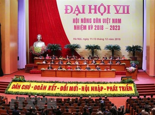 Khai mac Dai hoi dai bieu toan quoc Hoi Nong dan Viet Nam lan thu VII hinh anh 1