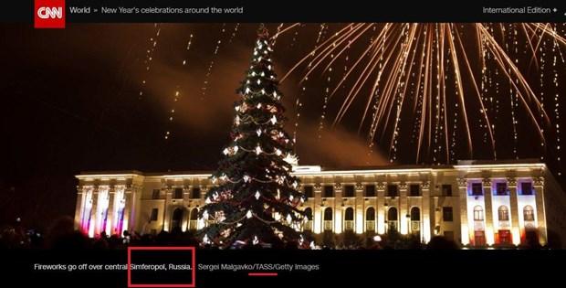 Ukraine chi trich CNN vi xem Simferopol la thanh pho cua Nga hinh anh 1