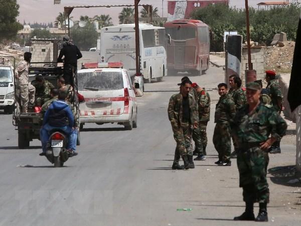 Quan doi Syria tieu diet thu linh nhom phien quan khet tieng HTS hinh anh 1