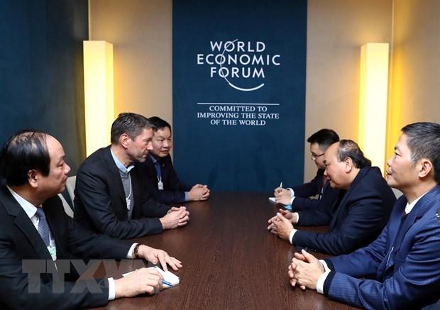 Thu tuong tiep lanh dao cac Tap doan da quoc gia ben le WEF Davos hinh anh 3