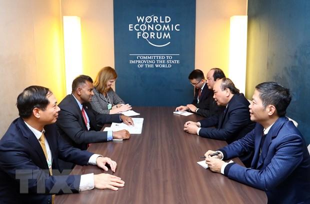 Thu tuong tiep lanh dao cac Tap doan da quoc gia ben le WEF Davos hinh anh 2