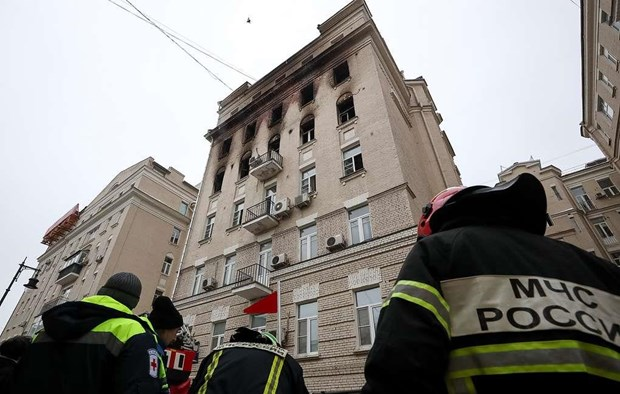 Nga: Chay khu can ho cao cap o thu do Moskva, nhieu nguoi thuong vong hinh anh 1