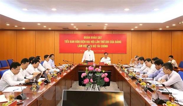 Doan Tieu ban Van kien lam viec voi Ban can su dang Bo Tai chinh hinh anh 2
