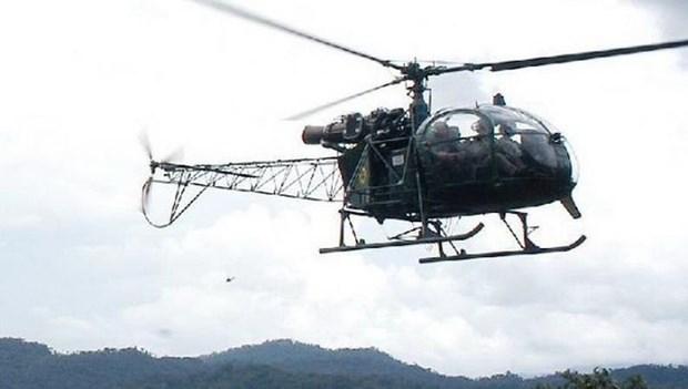 Peru: Roi may bay truc thang quan su, 4 nguoi thuong vong hinh anh 1