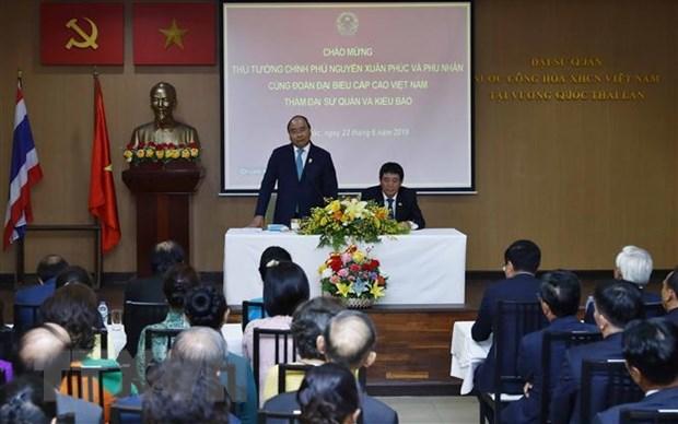 Thu tuong tham Dai su quan Viet Nam va gap go kieu bao tai Thai Lan hinh anh 1