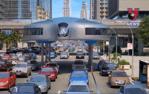 [Video] Nga thiet ke 'sieu xe khong lo' di chuyen tren cao hinh anh 1