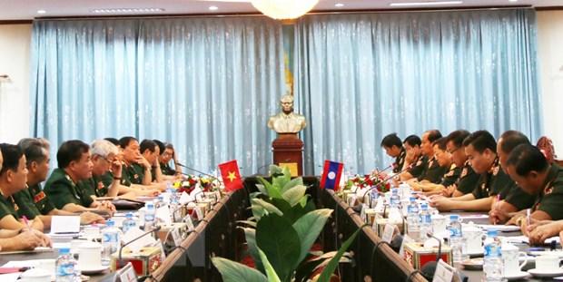Trao doi chinh sach quoc phong Viet Nam-Lao lan thu nhat hinh anh 1