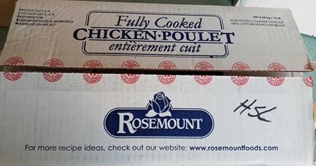 Canada thu hoi san pham thit ga hieu Rosemount nhiem khuan Listeria hinh anh 1