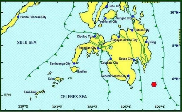 Philippines: Dong dat 6,4 do lam rung chuyen tinh Davao Occidental hinh anh 1