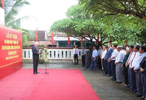 Phu Yen: Ky niem 89 nam Ngay thanh lap Chi bo Dang Cong san dau tien hinh anh 1