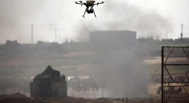 Dan quan o Dai Gaza ban ha mot may bay khong nguoi lai cua Israel hinh anh 1