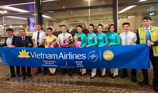 Vietnam Airlines khai truong duong bay Da Nang-Thuong Hai hinh anh 1