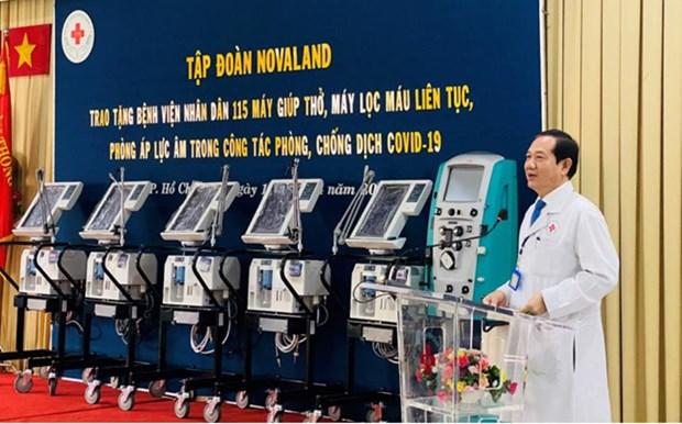 Novaland tang thiet bi y te 10 ty dong cho Benh vien Nhan dan 115 hinh anh 1