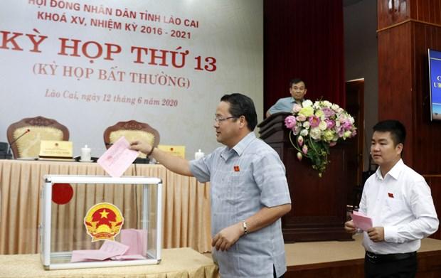 Bau bo sung Pho Chu tich Uy ban nhan dan tinh Lao Cai hinh anh 1