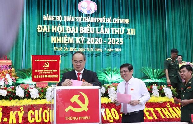 Dai hoi dai bieu Dang bo Quan su Thanh pho Ho Chi Minh lan thu XII hinh anh 1