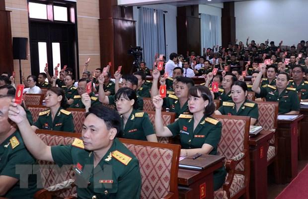 Dai hoi dai bieu Dang bo Quan su Thanh pho Ho Chi Minh lan thu XII hinh anh 2