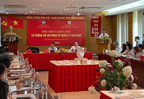 Gia tri sau sac cua tu tuong Chu tich Ho Chi Minh ve quan ly giao duc hinh anh 1