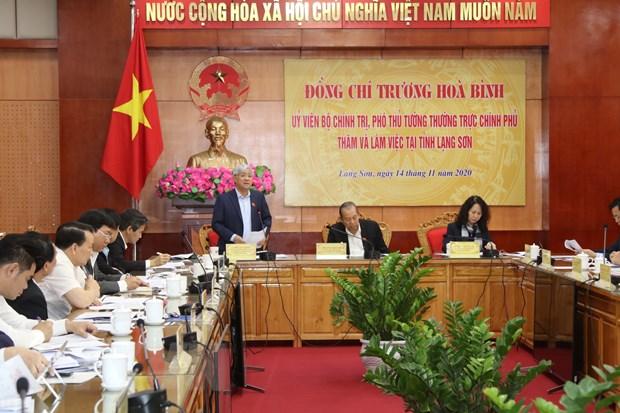 Pho Thu tuong Truong Hoa Binh lam viec tai tinh Lang Son hinh anh 1