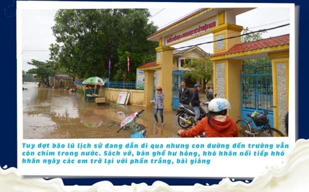 'Co gai Ha Lan' chung tay chia se cung hoc tro vung lu Quang Tri hinh anh 1