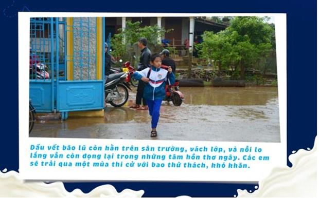 'Co gai Ha Lan' chung tay chia se cung hoc tro vung lu Quang Tri hinh anh 2