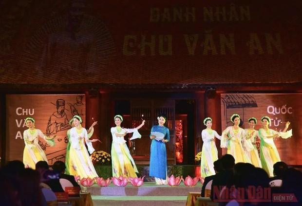 Trang trong Le ky niem 650 nam ngay mat cua Danh nhan Chu Van An hinh anh 2