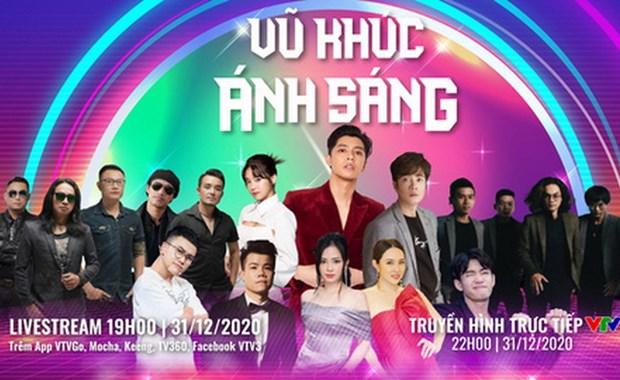 'Vu khuc anh sang - Countdown 2021': Ban hoa ca ruc ro don Nam moi hinh anh 1