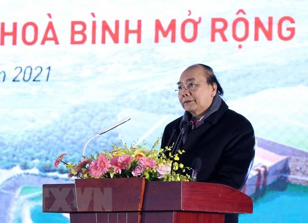 Thu tuong phat lenh khoi cong Du an Nha may thuy dien Hoa Binh mo rong hinh anh 1