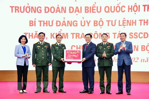 Bi thu Thanh uy Ha Noi chuc Tet Su doan Bo binh 301-Bo Tu lenh Thu do hinh anh 1
