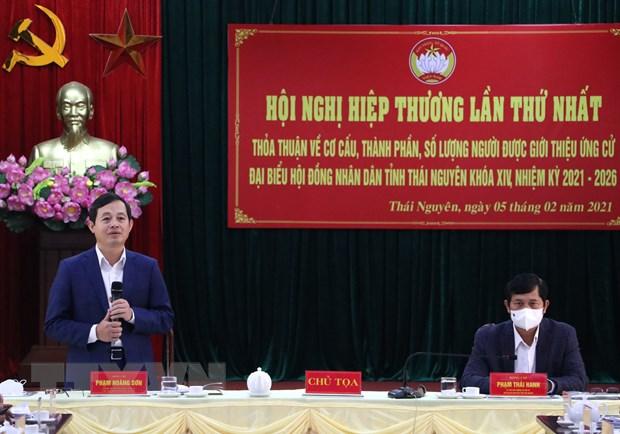 Hoi nghi hiep thuong lan 1 bau dai bieu HDND tinh Thai Nguyen hinh anh 1