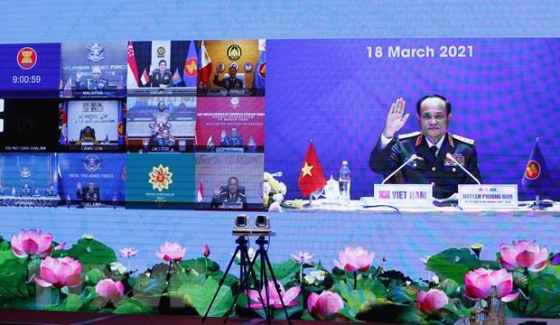 Thượng tướng Nguyễn Phương Nam, Phó Tổng Tham mưu trưởng Quân đội nhân dân Việt Nam tham dự Hội nghị. (Ảnh: Doãn Tấn/TTXVN)