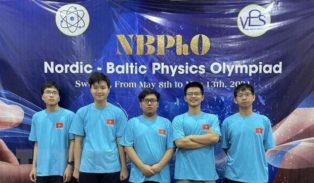 Hoc sinh Ha Noi doat huy chuong Ky thi Olympic vat ly Bac Au-Baltic hinh anh 1