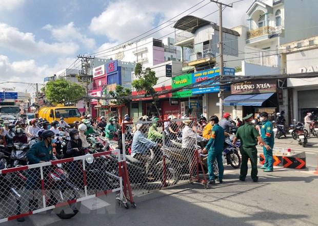 TP Ho Chi Minh un tac giao thong tai cac chot kiem soat quan Go Vap hinh anh 1