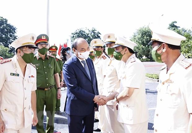 Chu tich nuoc Nguyen Xuan Phuc kiem tra cong tac dac xa tai Bac Giang hinh anh 1