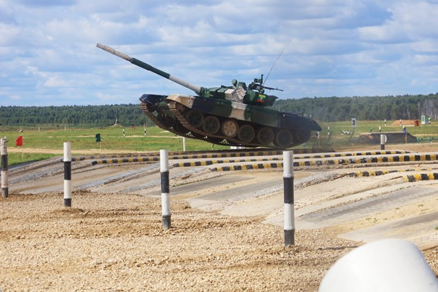 Army Games 2021: Doi tuyen Nga tam dan dau cuoc thi Xe tang hanh tien hinh anh 1