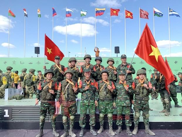 Army Games 2021: Doi tuyen Cong binh QDND Viet Nam xuat sac gianh HCD hinh anh 1