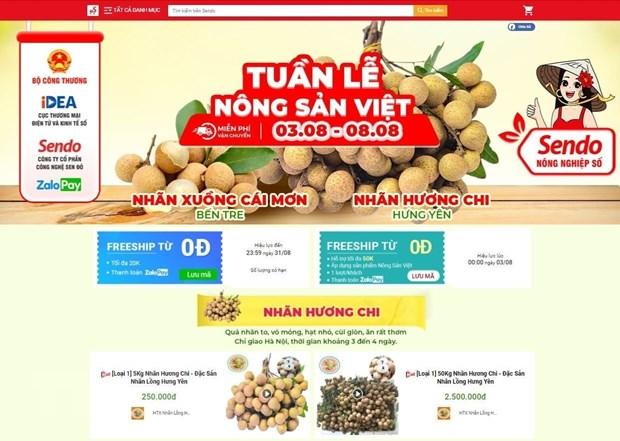 Suc song hang Viet: Tieu thu nong san tren san thuong mai dien tu hinh anh 1